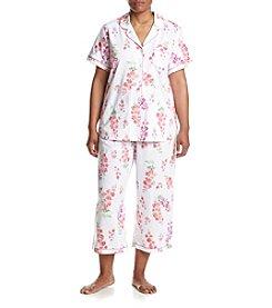 KN Karen Neuburger Plus Size Floral Capri Pajama Set