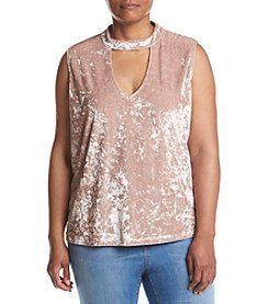 Hippie Laundry Plus Size Velvet Keyhole Top