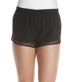 Inspired Hearts® Mesh Detail Track Shorts