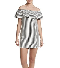 Swat Striped Off-Shoulder Dress