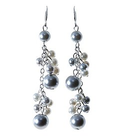 Studio Works® Shaky Cream And Grey Linear Earring