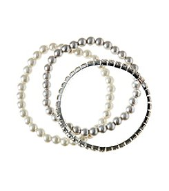 Studio Works® Set Of Three Stretch Bracelets