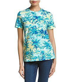 Studio Works® Petites' Printed Crew Neck Top