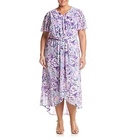 Relativity® Plus Size Lilac Field Maxi Dress