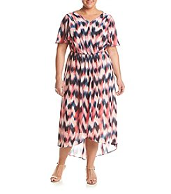 Relativity® Plus Size Water Smudge Maxi Dress