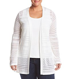 Relativity® Plus Size Open Duster Cardigan