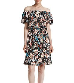 Relativity® Floral Off-Shoulder Dress