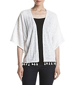 Relativity® Open Pompom Shrug