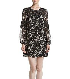 Black Rainn™ Floral Printed Dress