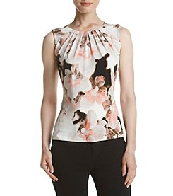 Calvin Klein Floral Pleat Neck Cami