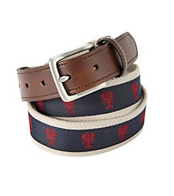 John Bartlett Statements Men's Lobster Print Belt