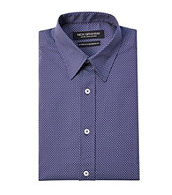 Nick Graham® Men's Mini Pindot Print Fitted Dress Shirt