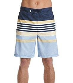 Le Tigre Men's Printed Stripe Swim Trunks