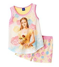 Disney® Girls' 4-10 Beauty & The Beast Belle 2-Piece Short Sleepwear Set