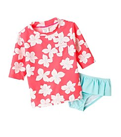 Carter's® Girls' 2T-6X Floral Rashguard Set