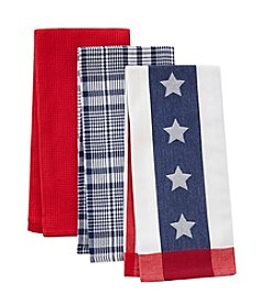 Living Quarters Three Pack Americana Kitchen Towels
