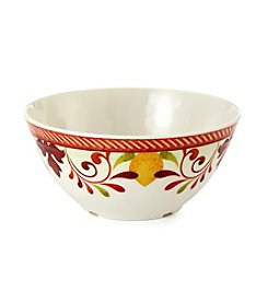 LivingQuarters Warm Medallion Bowl
