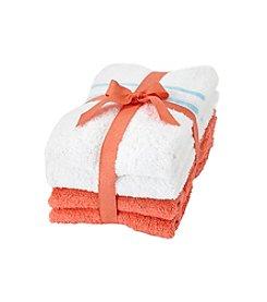 LivingQuarters 4-Pk. Cotton Hand Towels