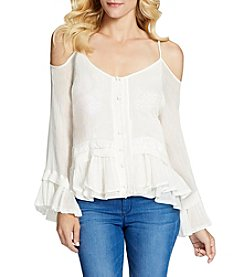 Jessica Simpson Ruffle Cold Shoulder Peasant Top