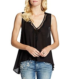 Jessica Simpson Split Back Peasant Tank