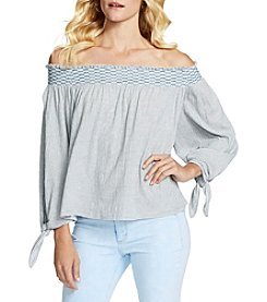 Jessica Simpson Striped Off Shoulder Top