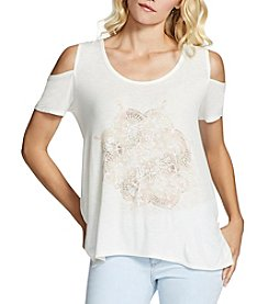 Jessica Simpson Graphic Cold Shoulder Tee