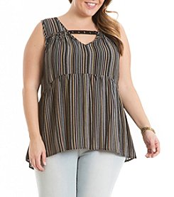 Eyeshadow® Plus Size Striped Tank