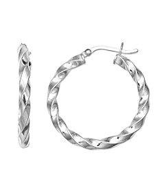 Willow Sterling Silver Twisted Hoop Earrings