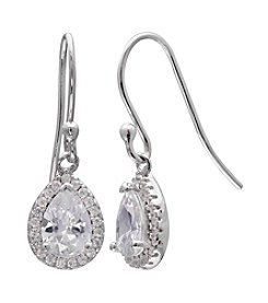 Willow Teardrop Cubic Zirconia Drop Earrings