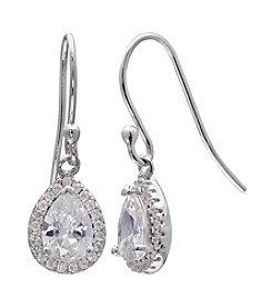 Willow Teardrop Cubic Zirconia Drop Earrings