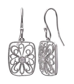 Willow Filigree Cubic Zirconia Drop Earrings