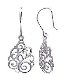 Willow Spiral Teardrop Earrings