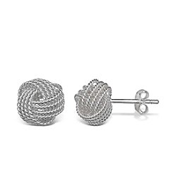 Willow Twisted Love Knot Stud Earrings