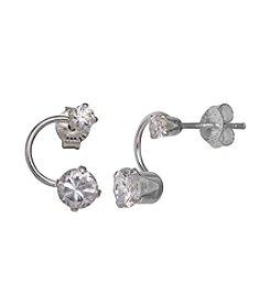 Willow Double Cubic Zirconia Earrings