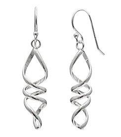 Willow Sterling Silver Twist Drop Earrings