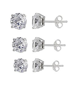 Willow® Cubic Zirconia Trio Earring Set