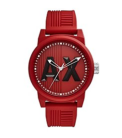 A|X Armani Exchange Silicone Strap Watch