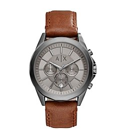 A|X Armani Exchange Men's Leather Strap Watch