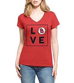 47 Brand MLB® St. Louis Cardinals Womens Club V Neck Short Sleeve Tee