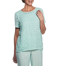 Alfred Dunner® Flutter Shell Knit Top