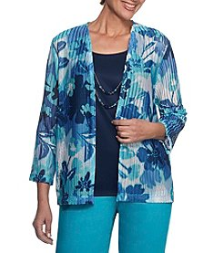 Alfred Dunner® Floral Layered Look Knit Top