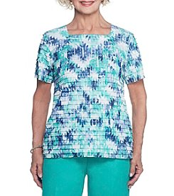 Alfred Dunner® Abstract Diamonds Tiered Blouse