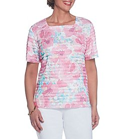 Alfred Dunner® Floral Tiered Blouse
