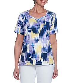 Alfred Dunner® Brush Stroke Knit Tee