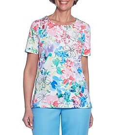 Alfred Dunner® Floral Knit Tee