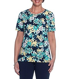 Alfred Dunner® Daisy Knit Tee