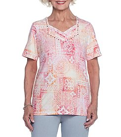 Alfred Dunner® Patchwork Tee