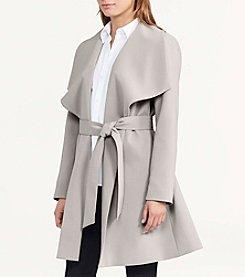 Lauren Ralph Lauren® Drape Front Belted Trench Coat