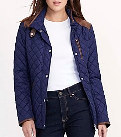 Lauren Ralph Lauren® Faux Leather Trim Quilt Jacket