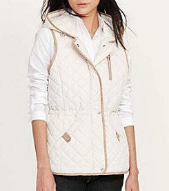 Lauren Ralph Lauren® Hooded Faux Leather Detailed Vest